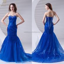 2015 sweetheart stapless mermaid dresses royal blue wedding dresses