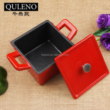 Enamelled Red cast iron mini casserole