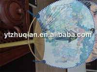 Chinese bamboo fan large painted bamboo fan manufacturer