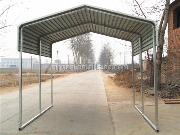 Metal Car Shelter : Outdoor backyard car shelter steel structure