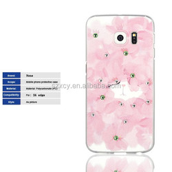 Bling bling 3d UV printing cell phone case for samsung galaxy s6 edge mobile phone accessory
