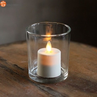 Rechargeable Luminara VOTIVE CANDLES with Exquisite Charging Base