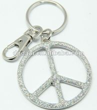 2012 hot sale zinc alloy keychain peace keychain