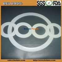 Round Clear Transparent gasket ptfe silicone gasket Silicone ptfe silicone gasket