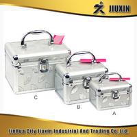 Aluminium acrylic cosmetic case