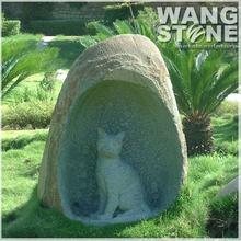 Natural Carving Cat Stone Sculpture