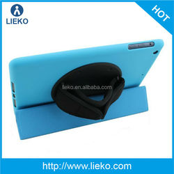 New design l fashion handhold rotatable leather case for Ipad mini