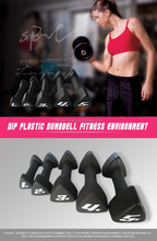 Triangle neoprene coated dumbbell