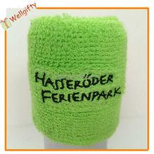 De calidad superior personalizada toalla de felpa wristband ciclismo sweatband