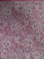 Cashew style elastic lace fabric in90% nylon & 10% spandex