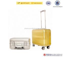 luggage suitcase, high quality flight aluminum trolley case