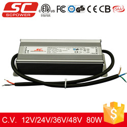 KV-12080-TD triac dimmable constant voltage 80w 12v led driver tuv