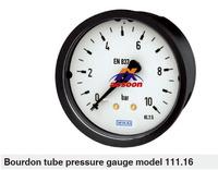 wikaPressure gauge Bourdon Tube Pressure Gauge Type 111.16, connection from behind