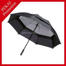 Large Windproof Golf Umbrella with Gauze, golf umbrella with fan