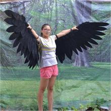 negro pluma alas de ángel