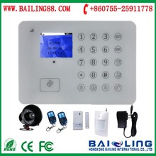 Factory direct sell full touch keypad TFT screen russian turkish multi language GSM SMS security alarm system