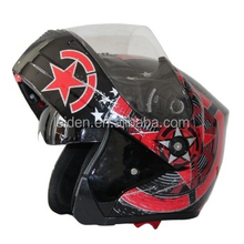 motorbike helmet cheaper top hot/ flip up helmets mt with double visor
