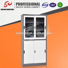 Top quality KD steel office tall storage cabinet with doors