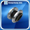 Water treatment single ball flexible pipe rubber joint