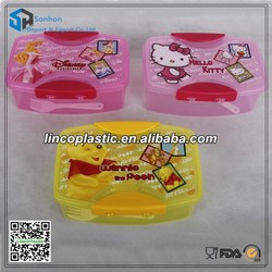 Plastic 500ml Lunch Box With Spoon & Fork