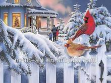 Merry Christmas oil painting by handmade for a special gift