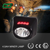 3.7V light weight rechargeable coal miner lamp with digital screen