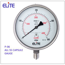 P-06 All SS PRESSURE GAUGE low pressure capsule gauge Manometer from China