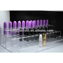 3 tiers clear makeup acrylic lipstick organizer with dividers factory directly