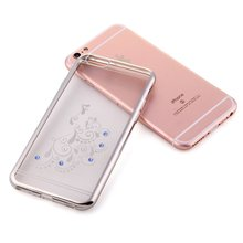 high end jewelry TPU cell phone back case for Apple iPhone 6s