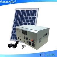 Off grid 100w solar panel system rooftop mounting system for fan