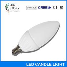 Ceramic & Glass led bulb 4w E26 dimmable COB candle