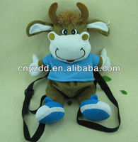 Plush Cow Backpack/Plush Cow Kids Picnic Backpack/Hot Sale Plush Cow Backpack Stuffed Toy