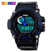 2015 new casual men military outdoor sport 5atm waterproof electronics digital japan quartz dual movt skmei 1053 military watch