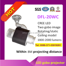 20w led projection light two gobo image rotating static