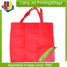 OEM Reusable Non Woven Foldable Shopping Bag With Print And Folded Into Fruite Shape Pocket