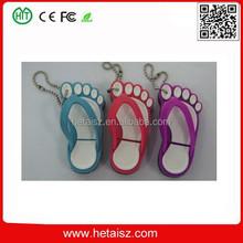 cute pvc slipper shape usb stick, flip flops usb 1tb, slippers usb flash drive no minimum order