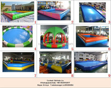 large inflatable square swimming pool, PVC pool, inflatable pool price