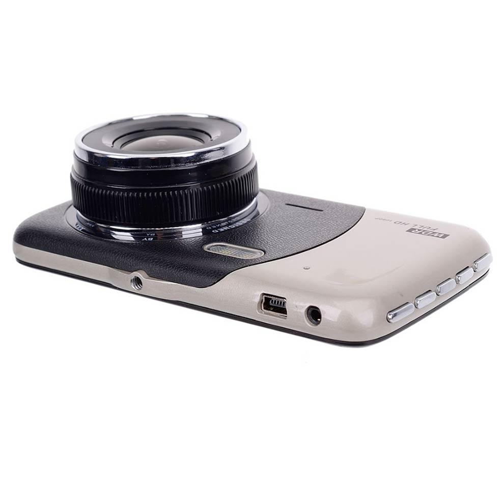 3.7 pouces Full HD 1080 P Double Caméras g-sensor Détection de Mouvement De Voiture Tableau de Bord Caméra caméra de Recul