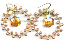 popular glass beads and glass pearl for lady