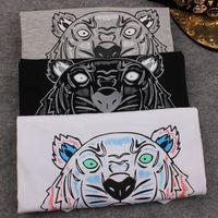 High Quality KEN 2015 New Brand European Women Tiger Head Print T-Shirt Cotton Short-Sleeved T Shirt Female Tops & Tees Shirts
