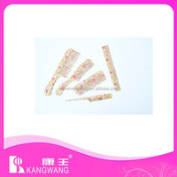 plastic flat comb hair brush for hotel /home