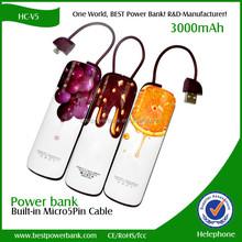 HC-V5 super slim 3000mah polymer can DIY picture power bank