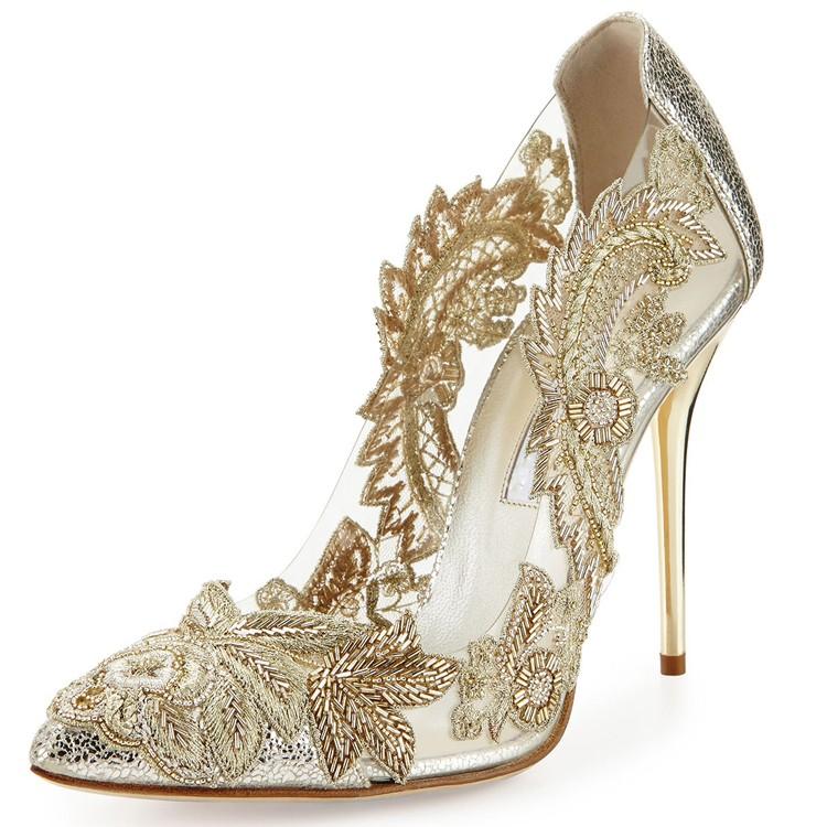 Robe de la dame chaussures, Chaussures de soirée avec des pierres, Chine chaussures conception