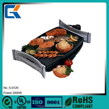 Portable double side smokeless electric bbq grill barbecue grill for restaurant and home