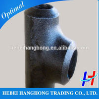 Trade Assurance Supplier Carbon steel pipe saddle red tee pipe fitting
