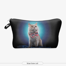 zohra china supplier cheap promotional cartoon cat 3d digital print fashion camping travel hanging cosmetic bag