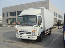China Top 5 brand T-KING truck 3.5T cargo box truck
