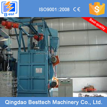 Hanger automatic workload advancement shot blasting machine