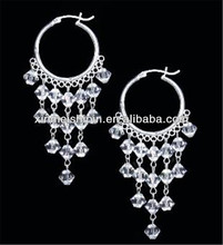 Stainless steel fashion earring with high quality