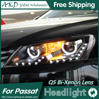 AKD Car Styling for VW Passat LED Headlights US Version Passat 2011-2014 LED Head Lamp Projector Bi Xenon Hid H7